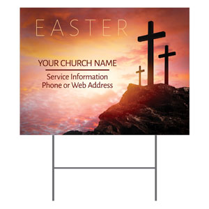 Easter Crosses Hilltop Yard Signs