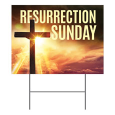Resurrection Sunday Cross Yard Sign