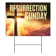 Resurrection Sunday Cross Yard Sign