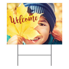 Leaf Kid Yard Sign
