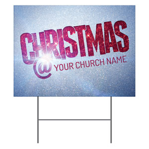 Christmas At Red Glitter Yard Signs