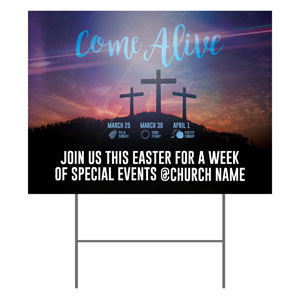 Come Alive Easter Journey Yard Signs