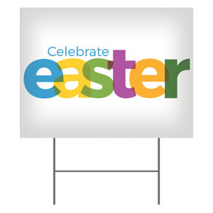 Color Bold Easter Yard Signs