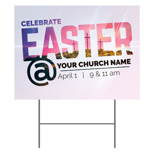 Easter At Calvary Yard Signs
