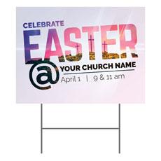 Easter At Calvary Yard Sign