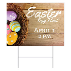 Easter Basket of Eggs Yard Signs