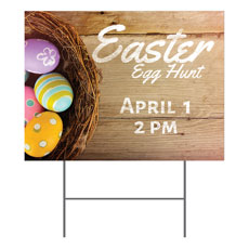 Easter Basket of Eggs Yard Sign
