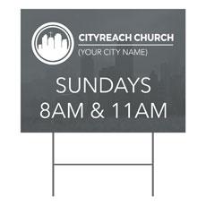 CityReach Skyline Yard Sign