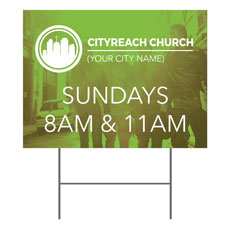 CityReach Urban Green Yard Sign