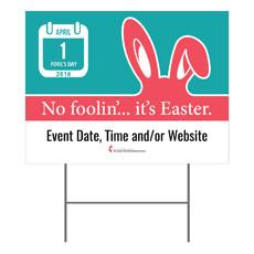 UMC Easter April Yard Sign