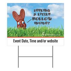 UMC Easter Hollow Yard Sign