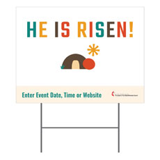 UMC Easter Risen Yard Sign