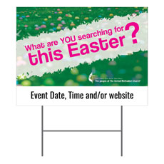 UMC Easter Search Yard Sign