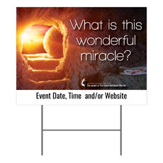 UMC Easter Wonderful Miracle Yard Sign