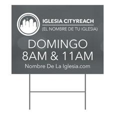 CityReach Blurred Gray Spanish Yard Sign
