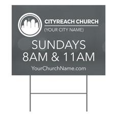 CityReach Blurred Gray Yard Sign