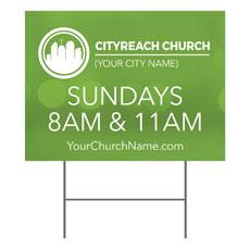 CityReach Blurred Green Yard Sign