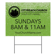 CityReach Green Pebble Fade Yard Sign