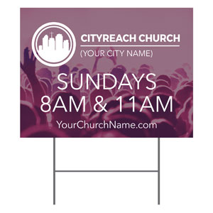 CityReach Plum Yard Signs