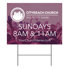 CityReach Plum Yard Sign