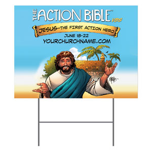 The Action Bible VBS Yard Signs