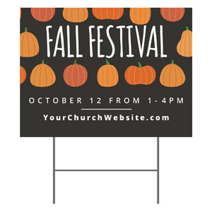 Pumpkins Fall Festival Yard Signs