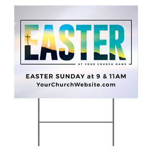 Bold Easter Calvary Hill YardSigns
