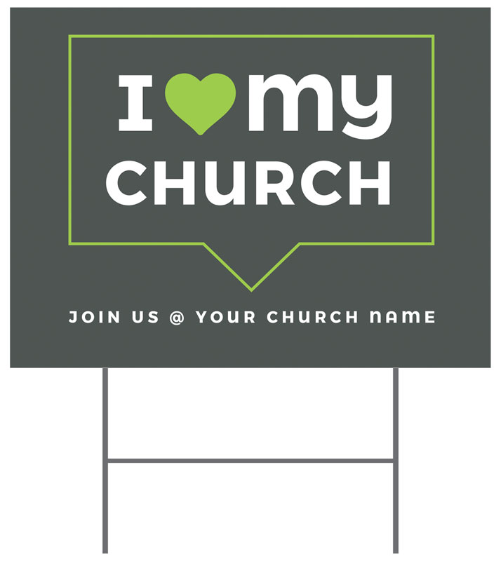 Yard Signs, New Years, ILMC Believe Love Serve, 18 x 24