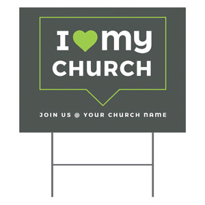 ILMC Believe Love Serve Yard Signs