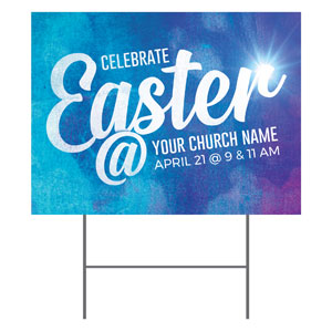 Blue Purple Easter At YardSigns