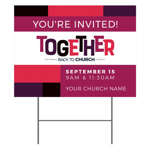 BTCS Together YardSigns