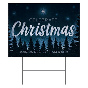 Christmas Forest Silhouette YardSigns