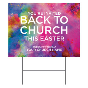 Back to Church Easter YardSigns