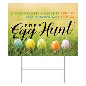 Free Easter Egg Hunt YardSigns