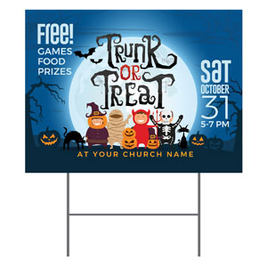 Trunk or Treat Kids YardSigns