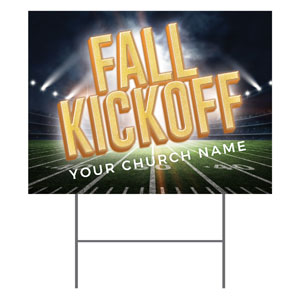 Fall Kickoff Stadium YardSigns