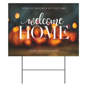 Welcome Home Lights YardSigns