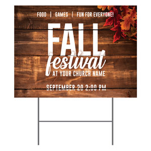 Rustic Fall Festival YardSigns