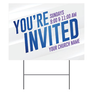 Invited Blue Streaks YardSigns