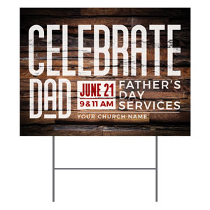 Dimensional Wood Father's Day YardSigns
