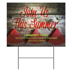 Summer Watermelon Events YardSigns