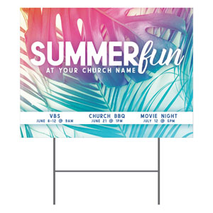 Summer Fun Pastel YardSigns