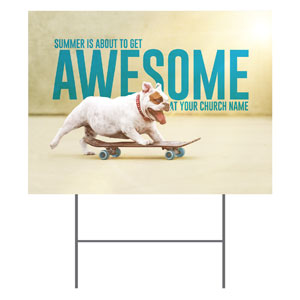 Awesome Summer Dog YardSigns