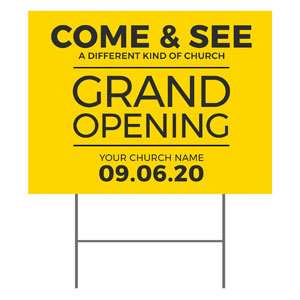 Yellow Grand Opening YardSigns