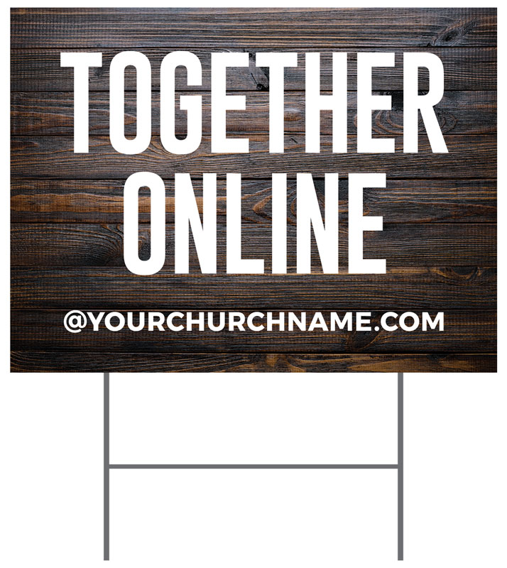 Yard Signs, You're Invited, Dark Wood Together Online, 18 x 24