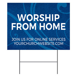 Flourish Worship From Home YardSigns