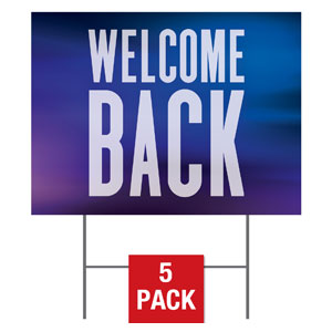 Aurora Lights Welcome Back Yard Signs - Stock 1-sided