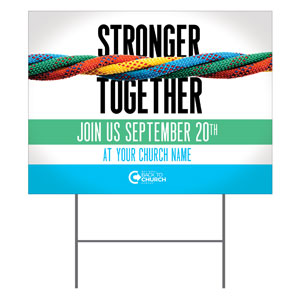 BTCS Stronger Together YardSigns