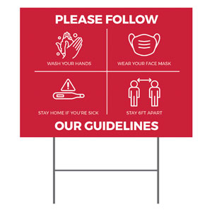 Red Guidelines YardSigns