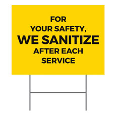 Yellow We Sanitize